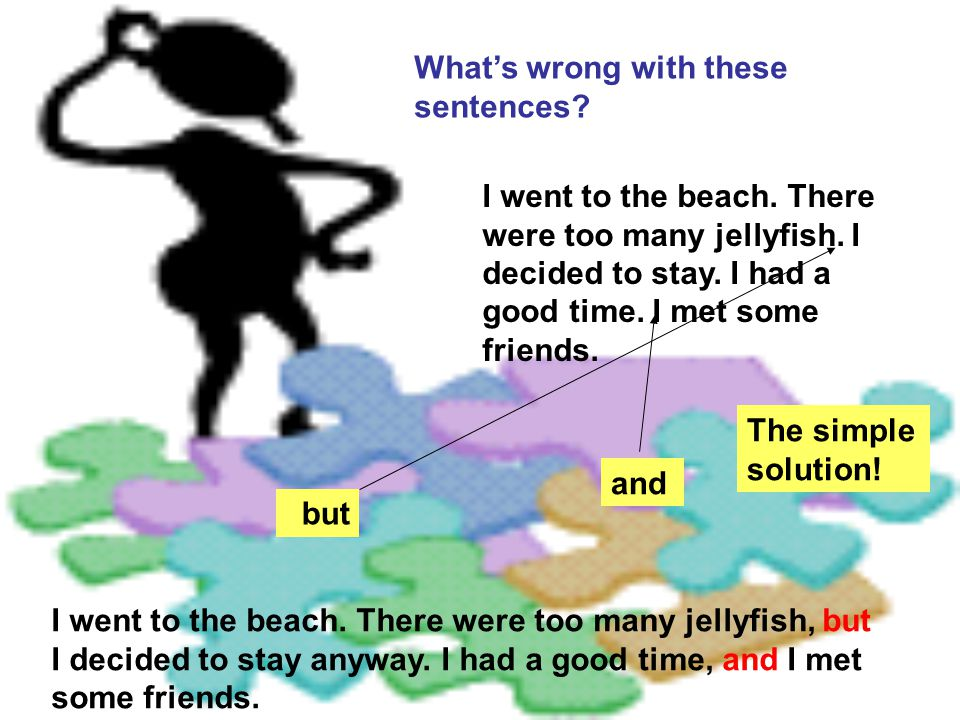 What's wrong with these sentences.I went to the beach.