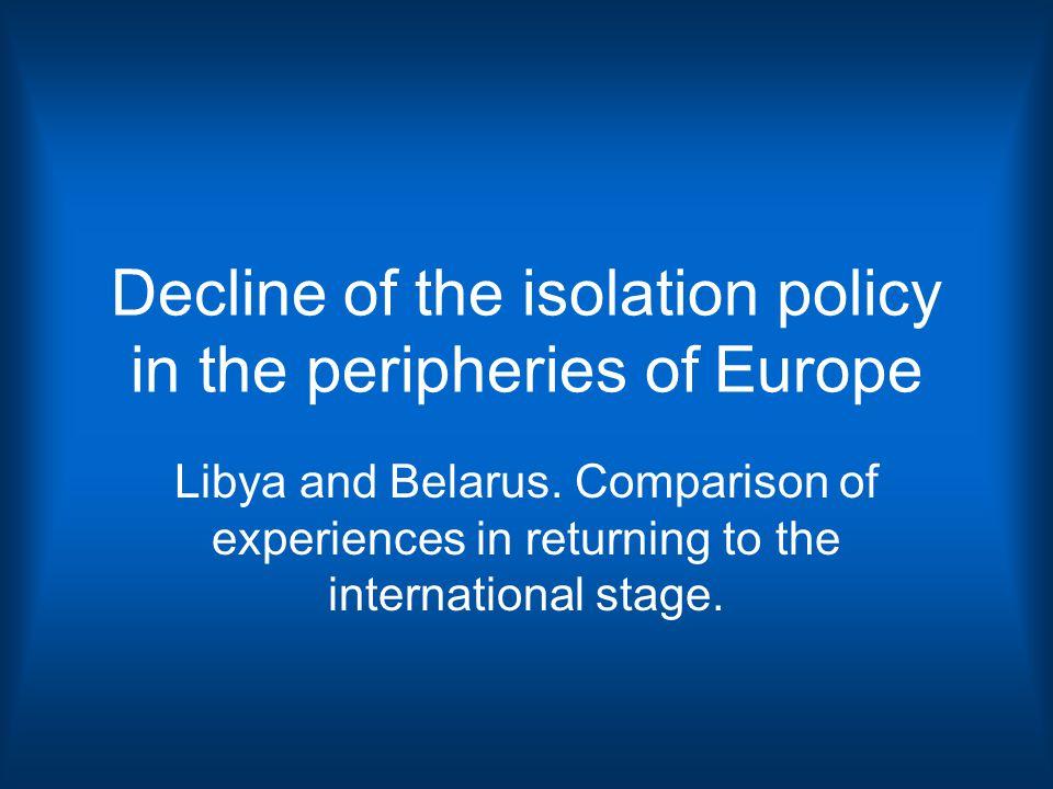 3. SIMILARITIES BETWEEN LIBYA AND BELARUS