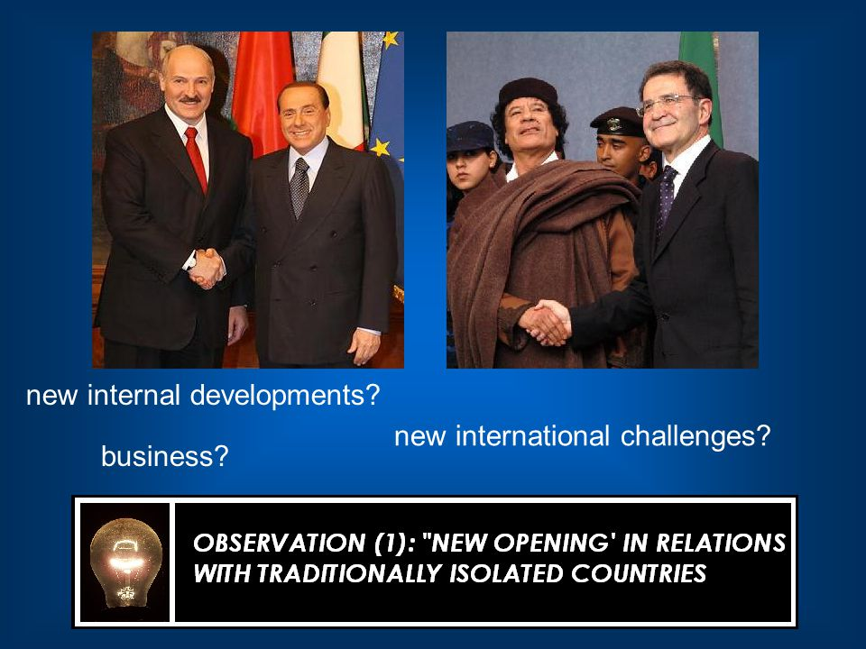 new internal developments business new international challenges