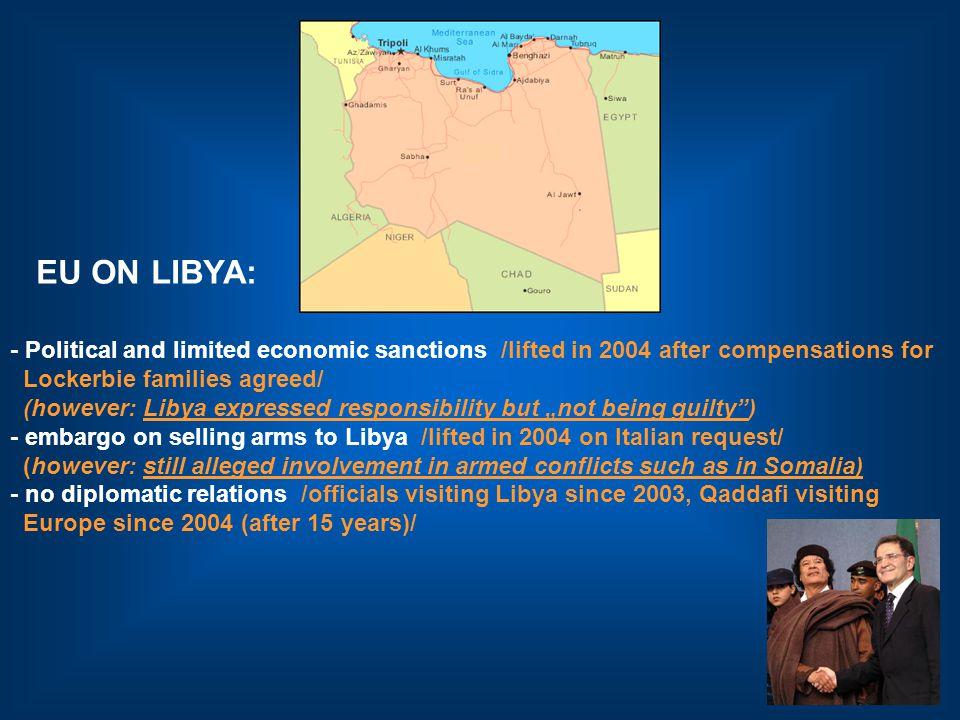 LIBYA Countries of special interest: US, Italy, EU BELARUS Poland, Lithuania, Sweden, Germany, EU