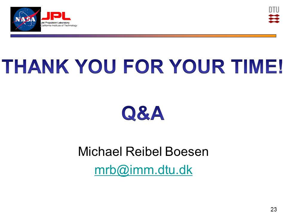 Michael Reibel Boesen mrb@imm.dtu.dk 23