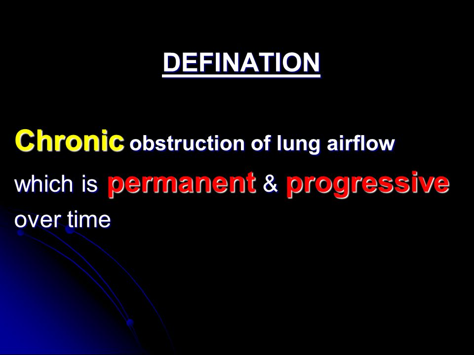 Compared to Emphysema Compared to Emphysema Air way narrowing is more Air way narrowing is more Pulmonary circulation is less affected Pulmonary circulation is less affected Body responds by decreasing ventilation and increasing cardiac output.