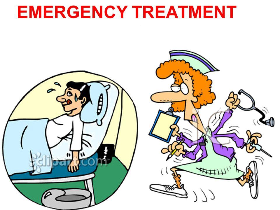 . EMERGENCY TREATMENT