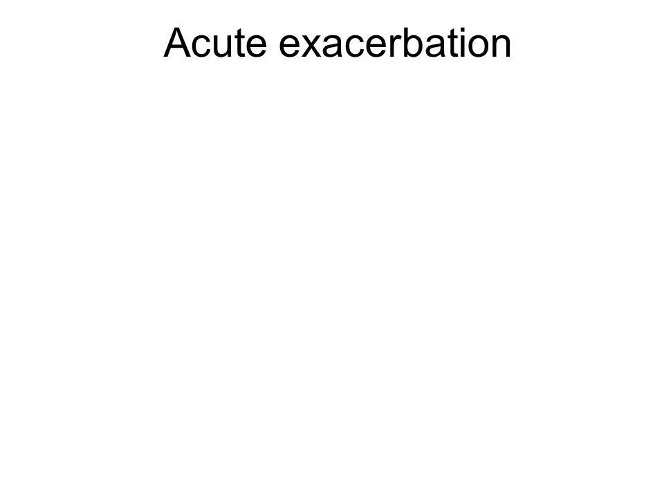 Acute exacerbation