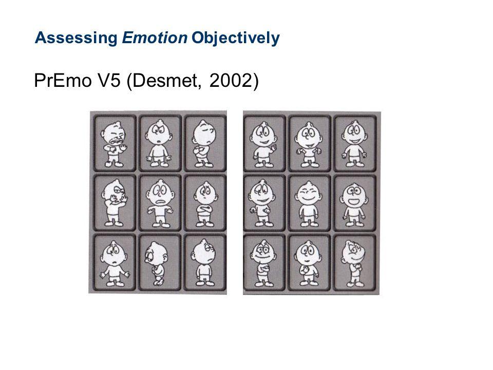 Assessing Emotion Objectively PrEmo V5 (Desmet, 2002)