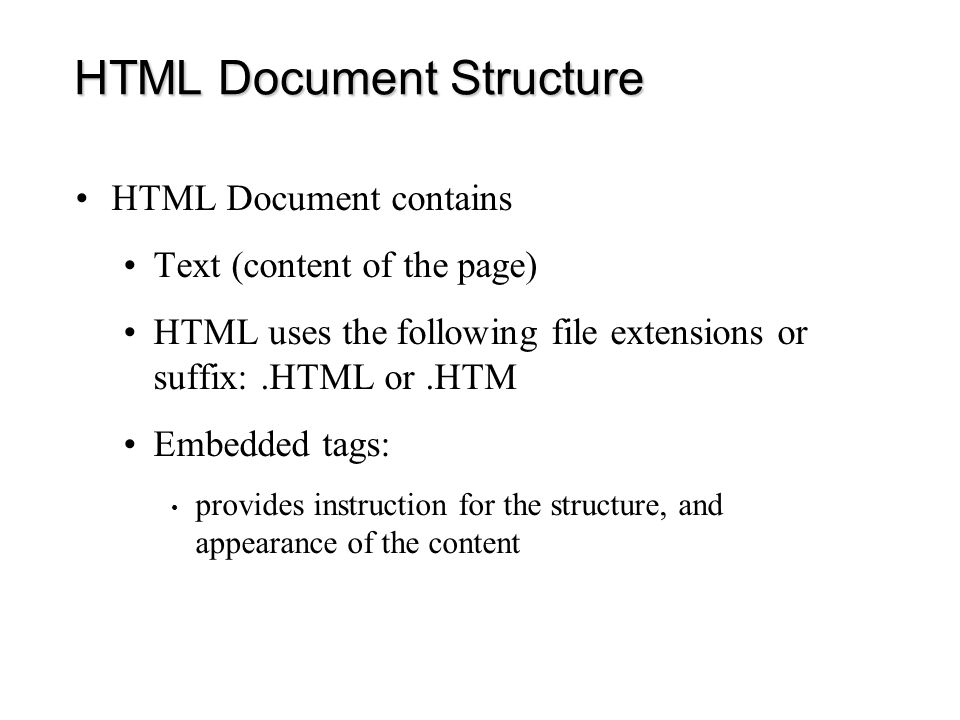 HTML Editors: Cons –They do not always generate clean HTML Add redundant tags Add their own tags –They do not offer good graphic tools to manipulate images –It can be hard to fix HTML tags since every time you open a document, code is added.