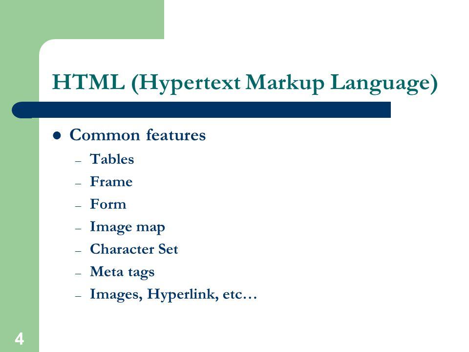 3 HTML (Hypertext Markup Language)