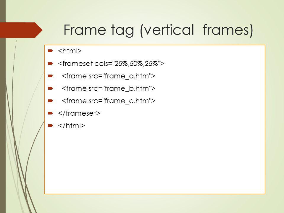 Frame tag (vertical frames) 