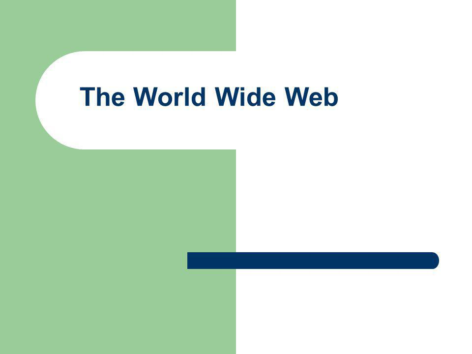 2 The Web is an infrastructure of distributed information combined with software that uses networks as a vehicle to exchange that information.