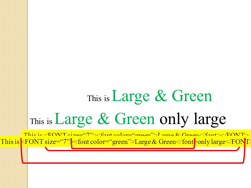 This is Large & Green only large