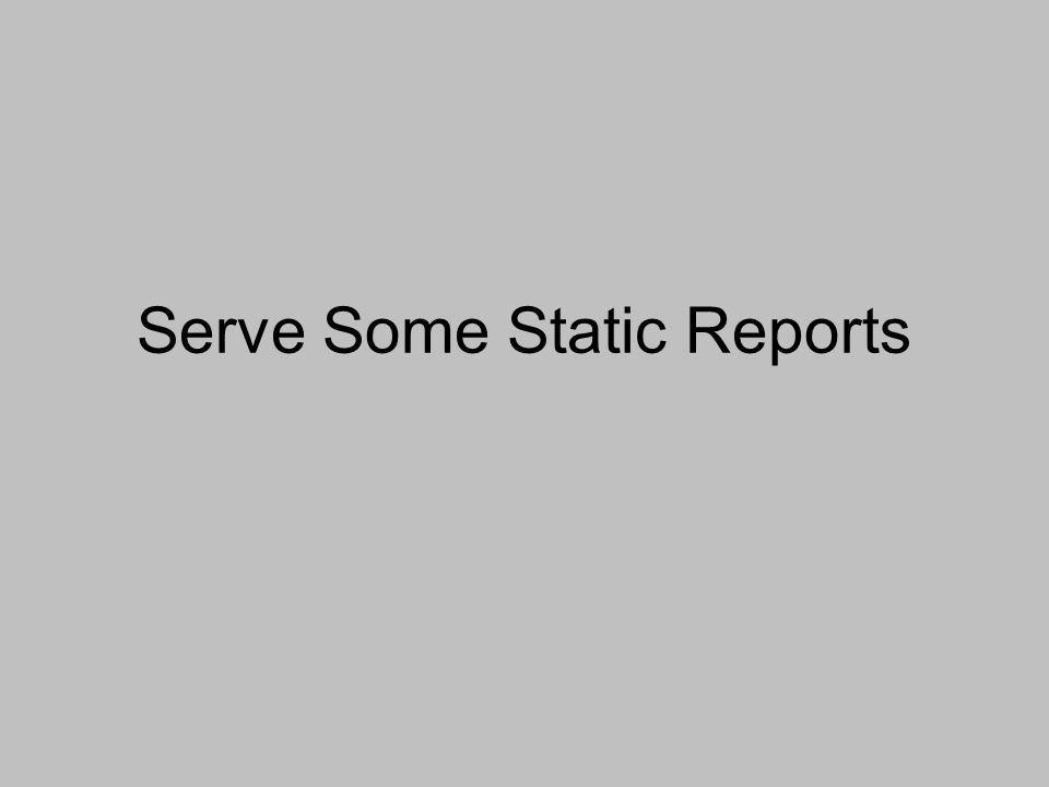 Serve Some Static Reports