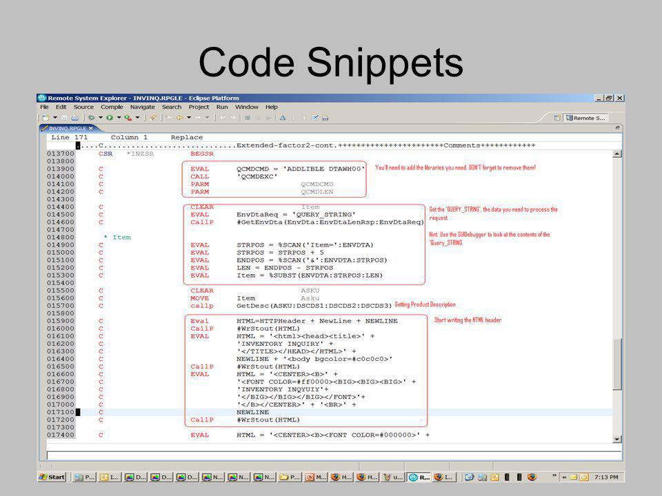 Code Snippets
