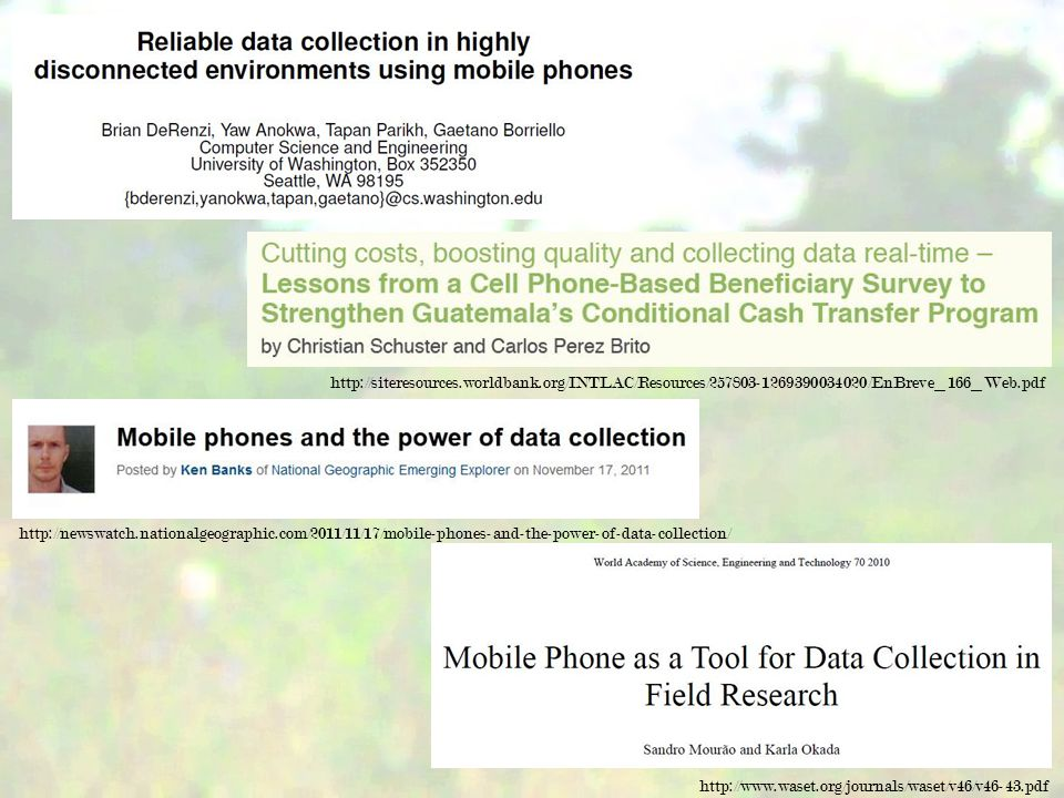 Researcher interviews and shadowing field environment data collection practices data storage use of mobile devices data management upon return
