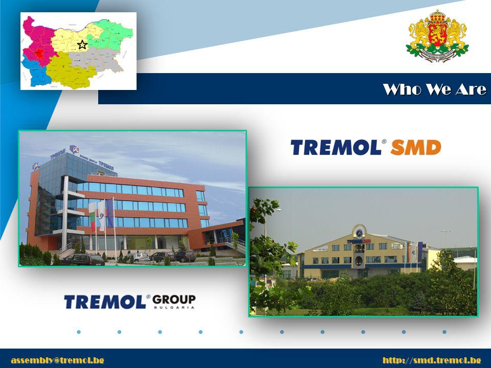www.tremol.bg Transport Department www.tremol.bg Transport Department is operational within Europe assembly@tremol.bg http://smd.tremol.bg