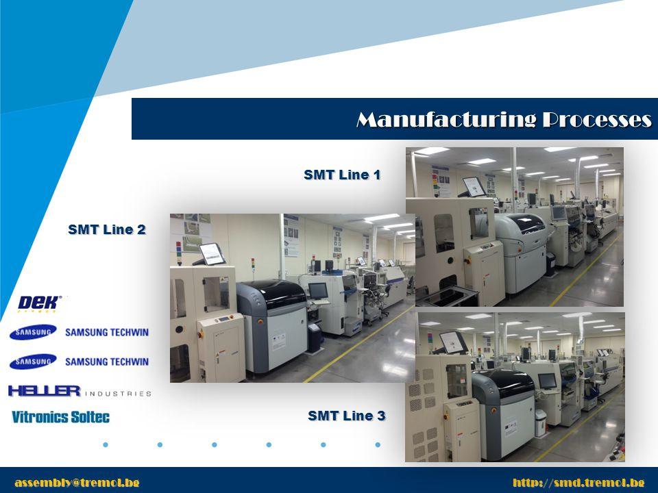 www.tremol.bg Manufacturing Processes www.tremol.bg AOI Machine assembly@tremol.bg http://smd.tremol.bg VT-S22 Flying Probe ICT APT 820S