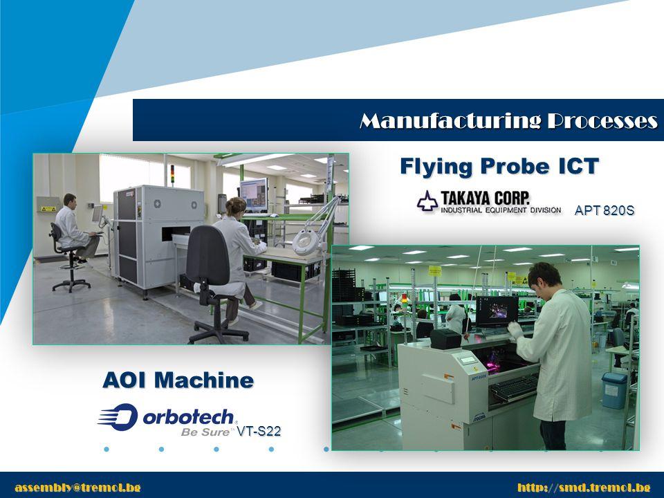 www.tremol.bg Manufacturing Processes www.tremol.bg Wave Soldering Processes assembly@tremol.bg http://smd.tremol.bg Lead Free Process Line 1 Leaded Process Line 2