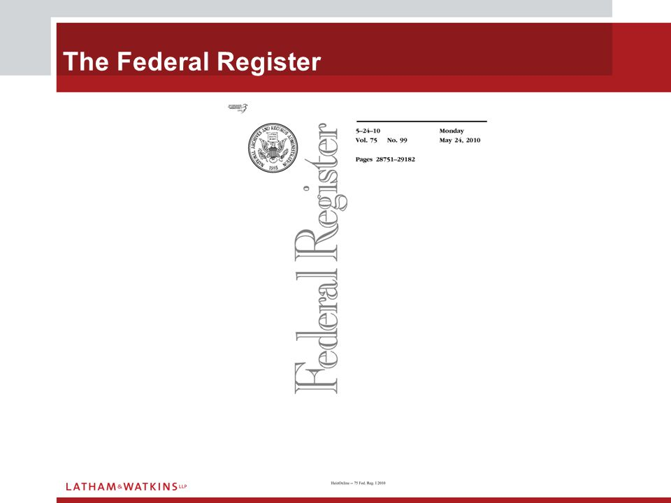 The Federal Register