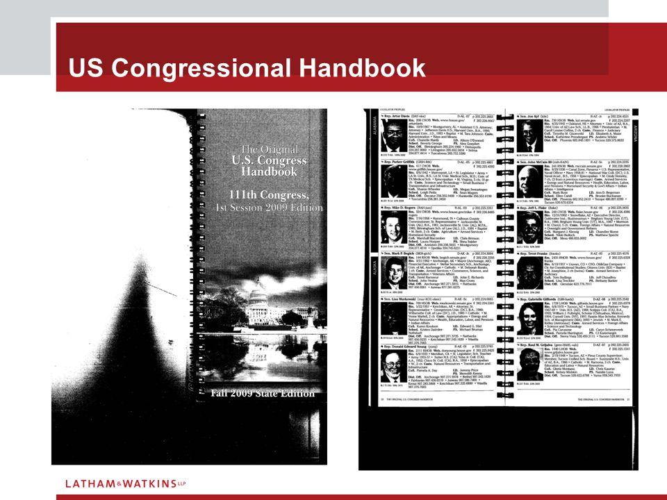 US Congressional Handbook