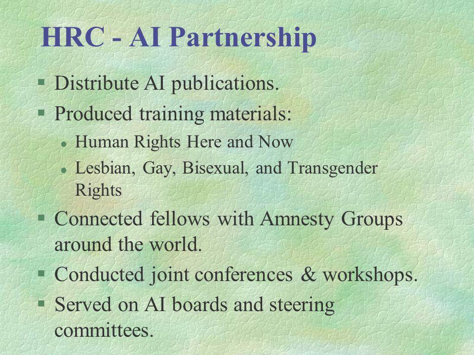 HRC - AI Partnership §Distribute AI publications.