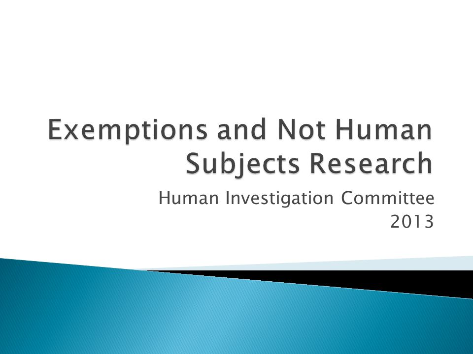 Human Investigation Committee 2013