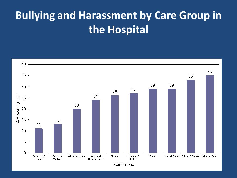 Bullying and Harassment at a London Acute Hospital 2004-2008