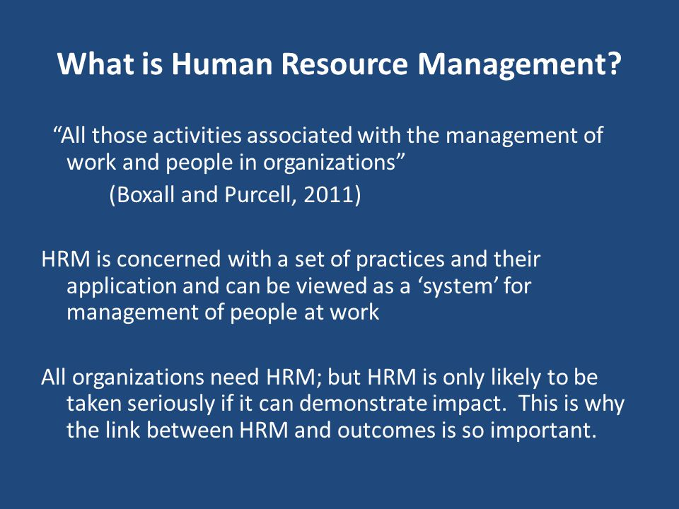 The Implementation Challenge Khilji and Wang (2006) highlighted a gap between intended and implemented practices Implies that it is not enough to have good HR policy and practice Guest & Conway (2011) show that implementation/effectiveness is more strongly associated with performance than HR practices Draws attention to the roles of HR specialists, top management and line managers