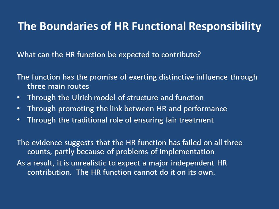 Implications for HRM The hospital has all the right policies and practices in place but B&H still very high. Why? Clear gap between 'intended' and 'im
