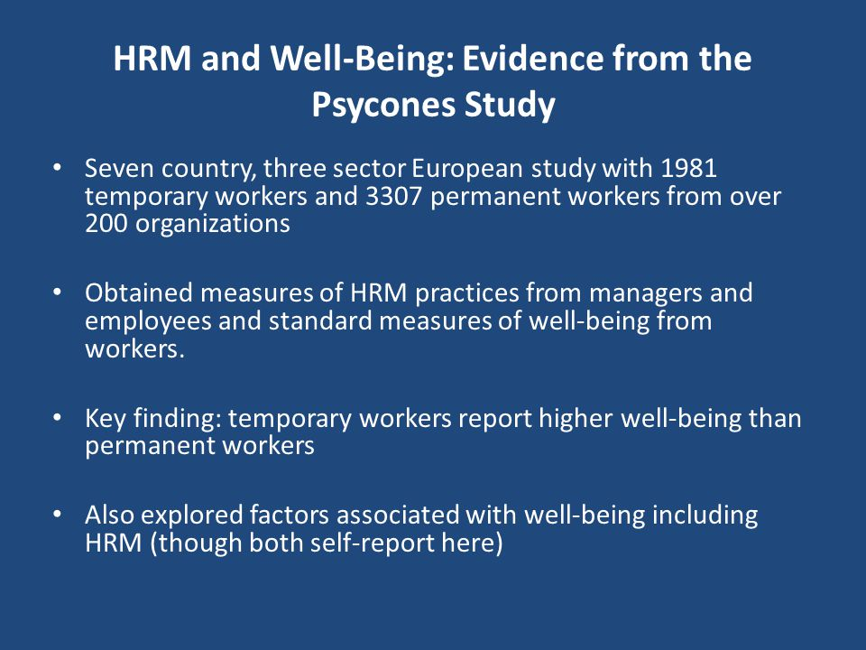 Work-Related Well-Being 2 Warr views employee well-being in terms of positive mental health: Warr's (2007) model has three dimensions Job satisfaction
