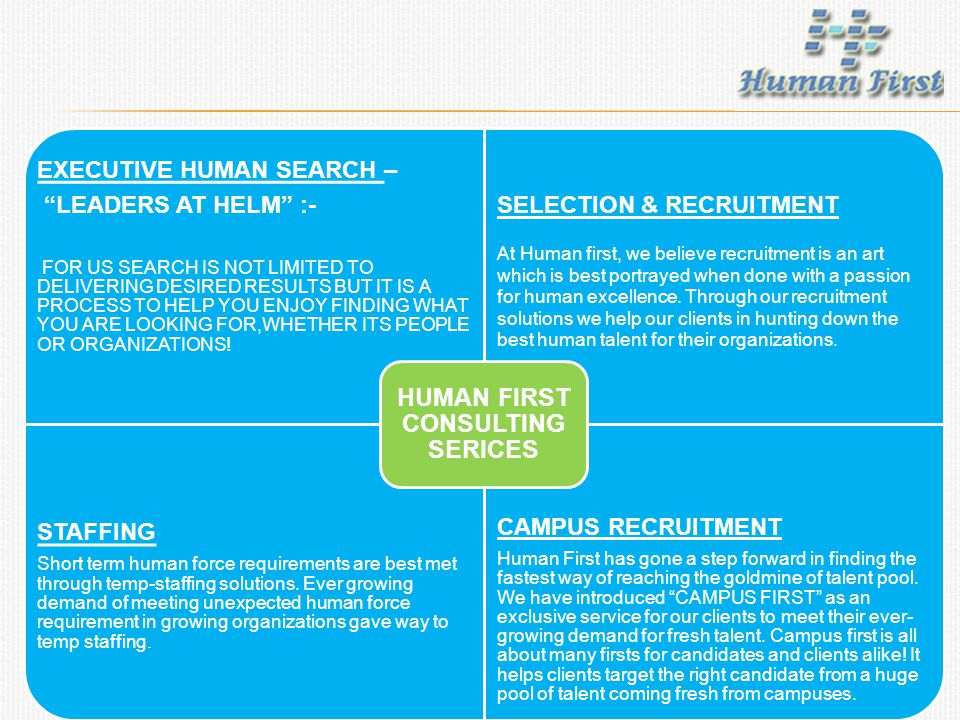 EXECUTIVE HUMAN SEARCH – LEADERS AT HELM :- FOR US SEARCH IS NOT LIMITED TO DELIVERING DESIRED RESULTS BUT IT IS A PROCESS TO HELP YOU ENJOY FINDING WHAT YOU ARE LOOKING FOR,WHETHER ITS PEOPLE OR ORGANIZATIONS.