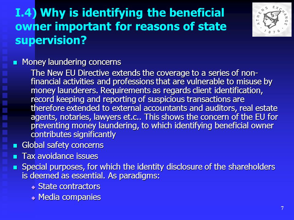 8 II) What is meant by the term beneficial owner It is a term derived by the common law equity regime.
