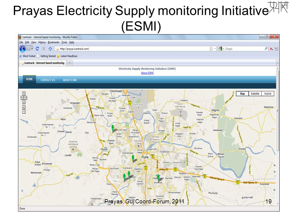Prayas Electricity Supply monitoring Initiative (ESMI) 19Prayas, Guj Coord-Forum, 2011