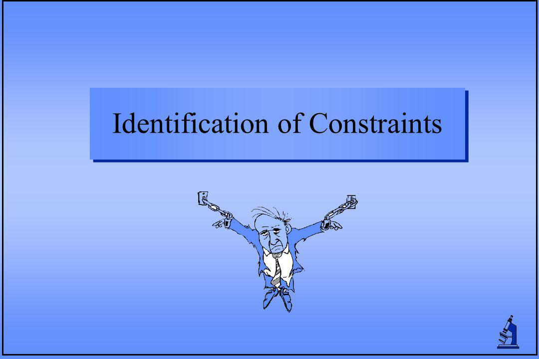 Identification of Constraints