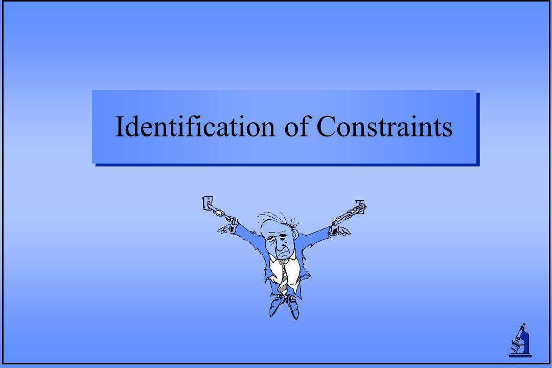 Identification of Constraints
