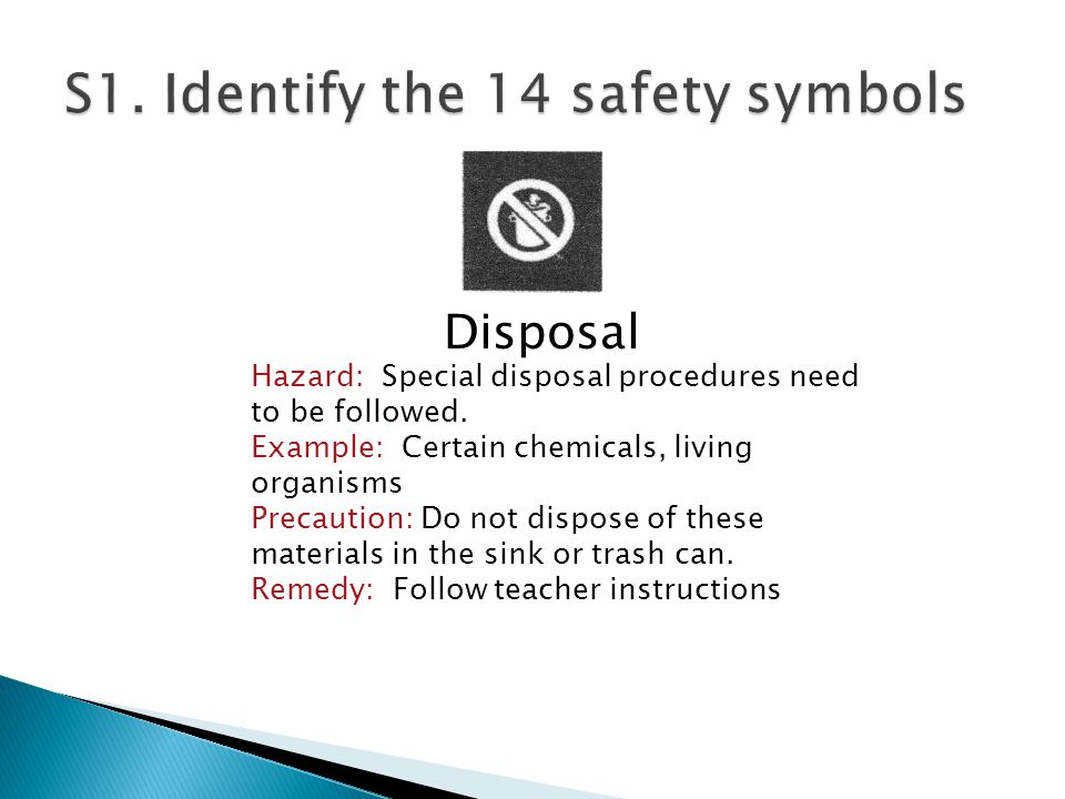 Disposal Hazard: Special disposal procedures need to be followed.