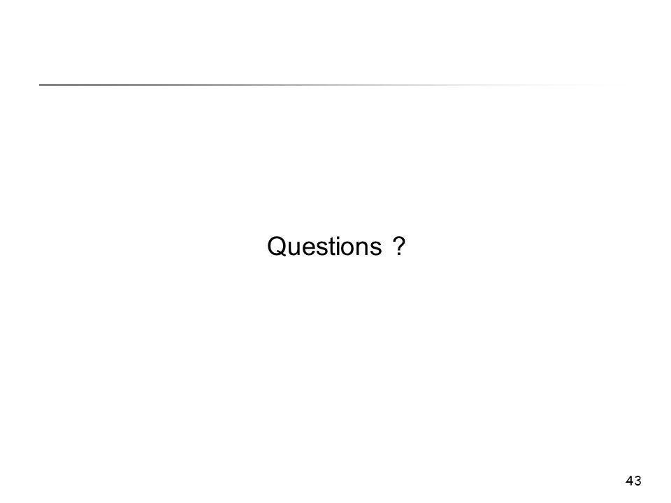 43 Questions ?