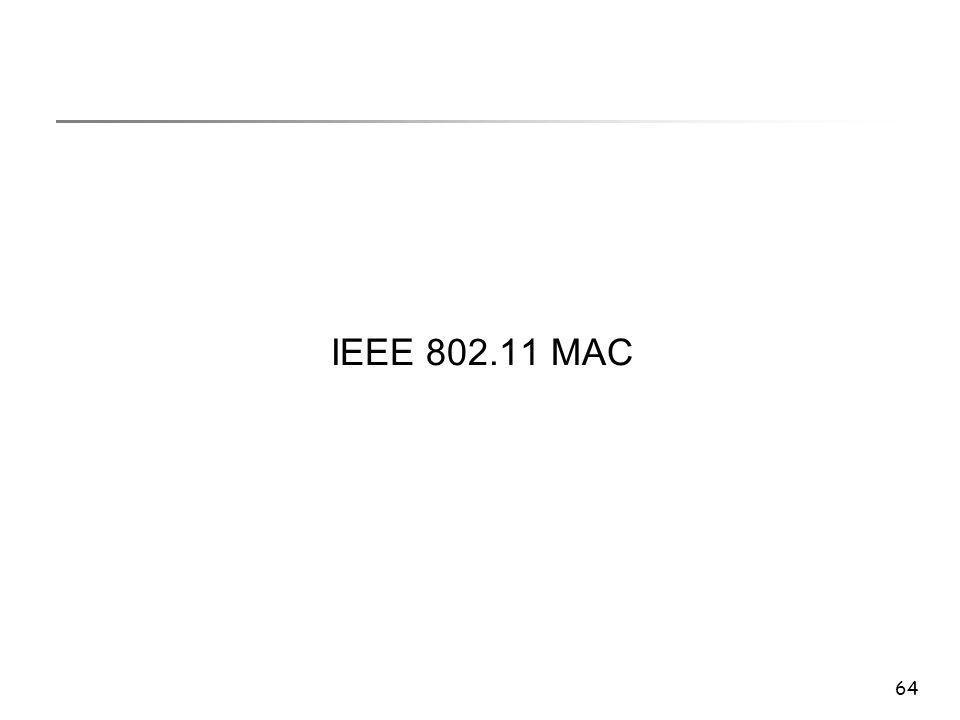64 IEEE 802.11 MAC