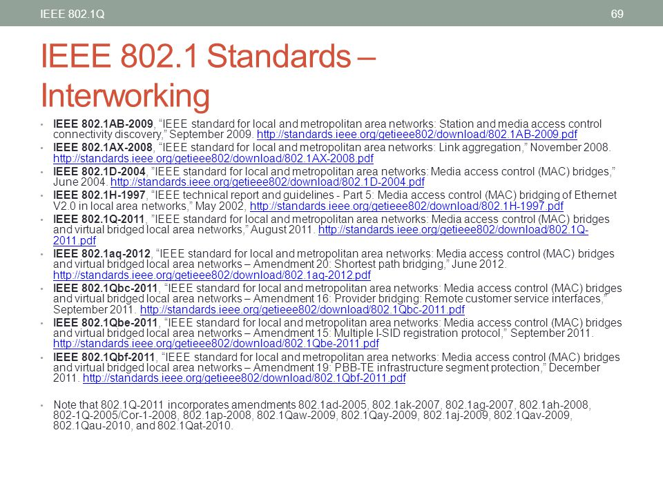 "IEEE 802.1 Standards – Interworking IEEE 802.1AB-2009, ""IEEE standard for local and metropolitan area networks: Station and media access control conne"