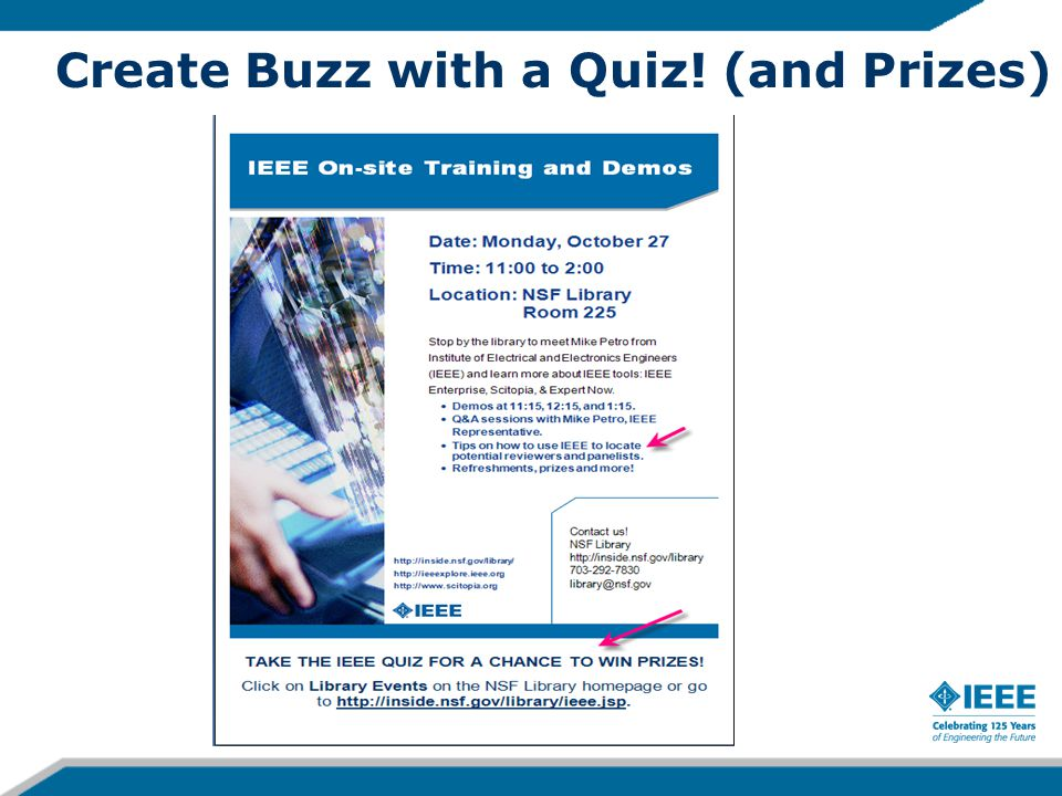 Create Buzz with a Quiz! (and Prizes)