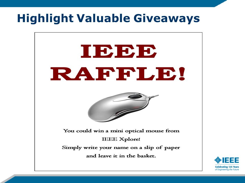 Highlight Valuable Giveaways