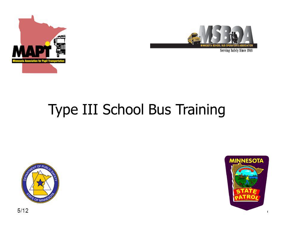 5/121 Type III School Bus Training