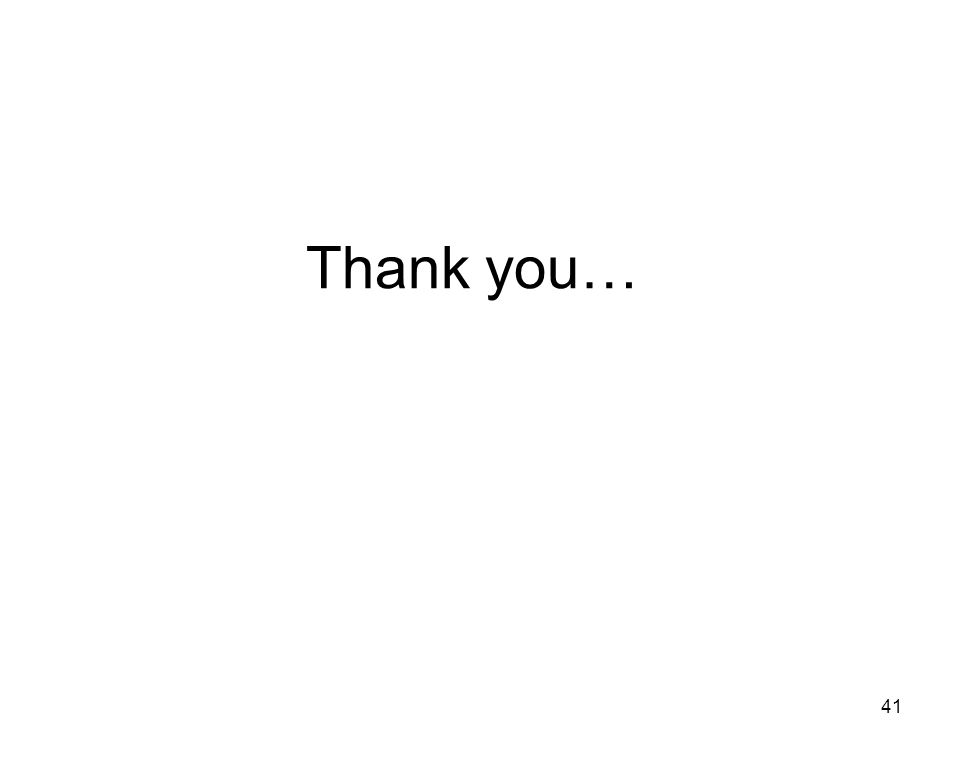 Thank you… 41