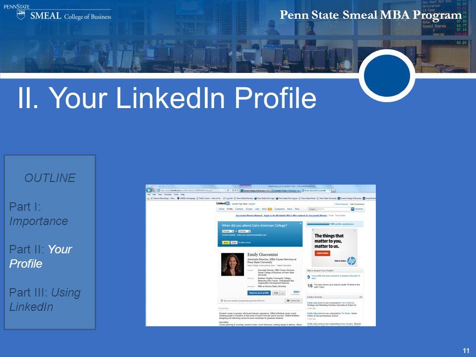 Penn State Smeal MBA Program 11 II.