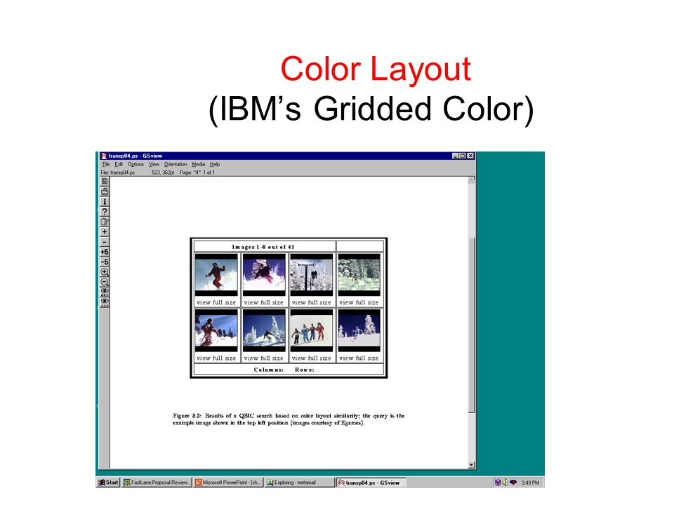 Color Layout (IBM's Gridded Color)