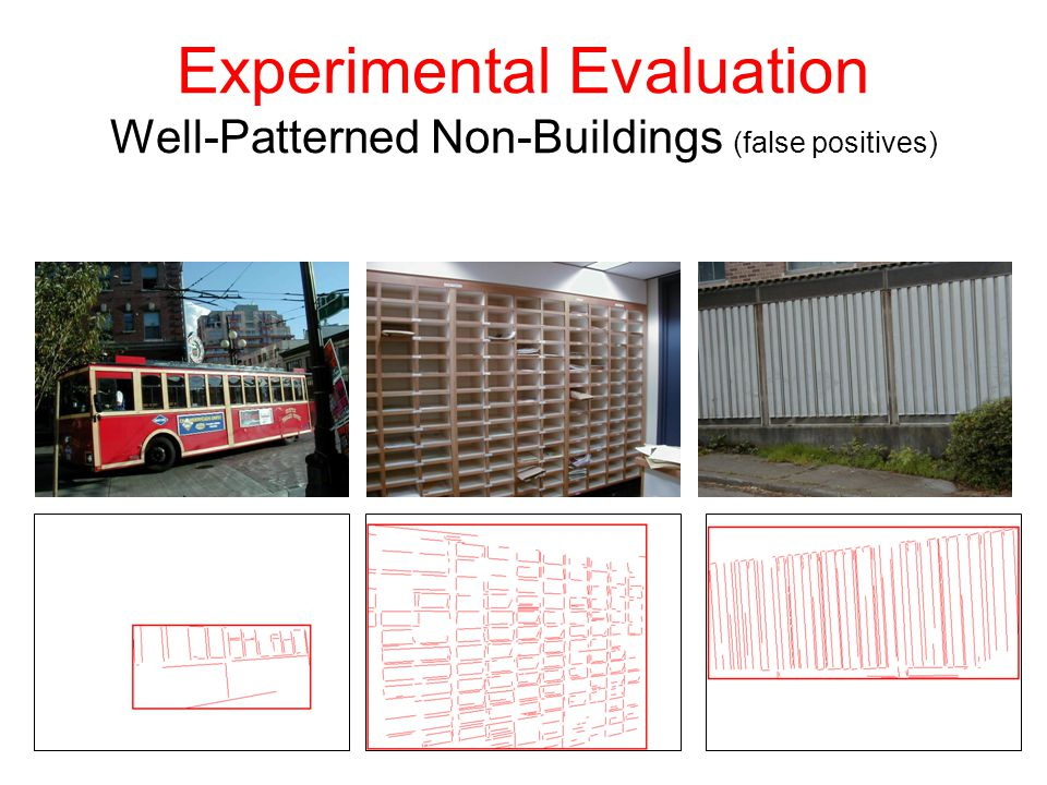 Experimental Evaluation Well-Patterned Non-Buildings (false positives)