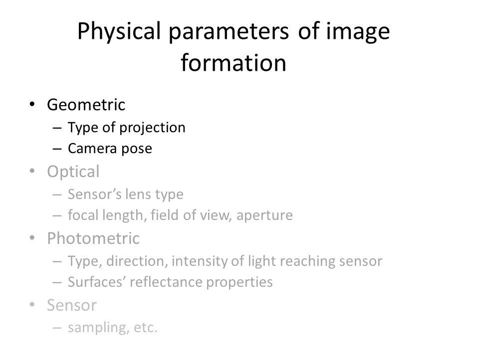 Intrinsic parameters May be skew between camera pixel axes W. Freeman