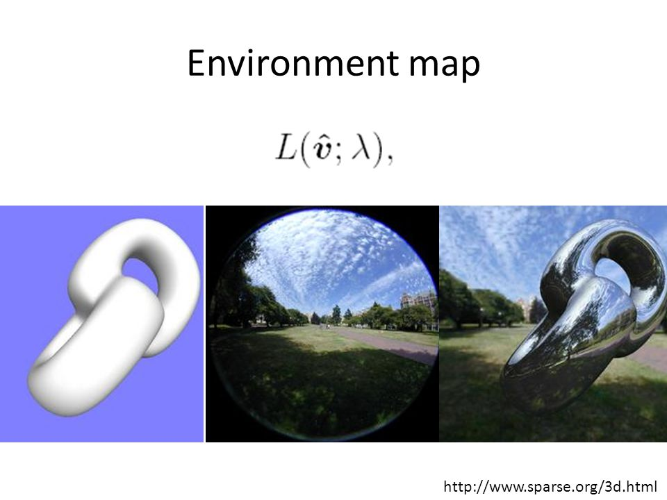 Environment map http://www.sparse.org/3d.html