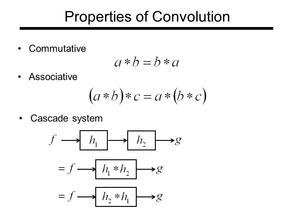 Properties of Convolution Commutative Associative Cascade system