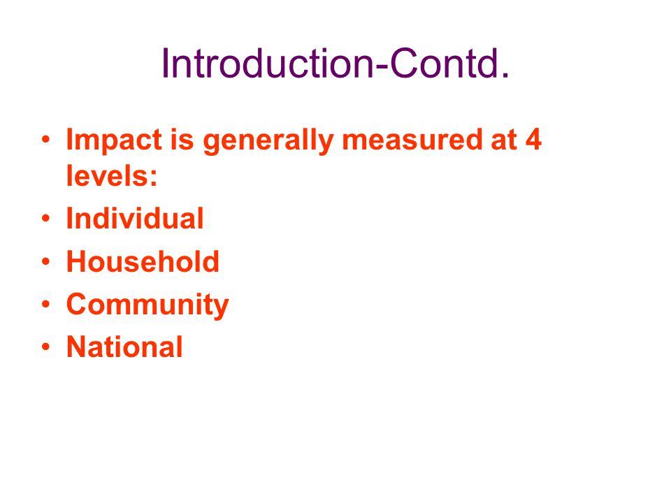 HIV/AIDS: IMPACT ANALYSIS Thus we see the impact Vis-à-vis macroeconomic indicators.