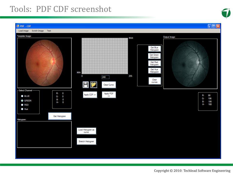 Tools: PDF CDF screenshot