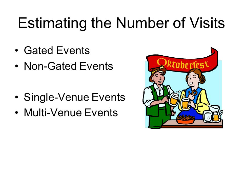 Estimating the Number of Visits Gated Events Non-Gated Events Single-Venue Events Multi-Venue Events